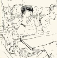 sketches in train 02 by Bonom
