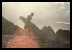 Surfer Silhouette by darthpayback