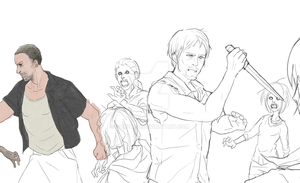 The Walking Dead: Re-united Blood WIP by SkiM-ART