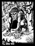 Wolf Man in Winter inks by BryanBaugh