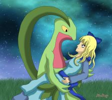 Haley and Grovyle by Rose-Beuty