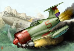 Rocket Fighter 'Rata' by MikeDoscher