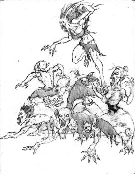 A Pack of Nosferatu by Level9Drow