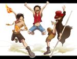 Luffy,Ace, and Sabo by Whirlwhind