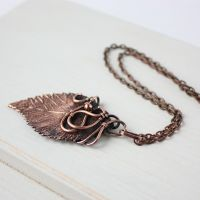 Real elm leaf necklace by WhiteSquaw