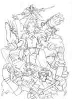 Final Fantasy 7 -sketch- by edwardgan