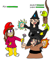 Aso vs Witches sisters by Aso-Designer