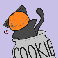 Tobi Kitty Luvs His Cookies by livy1023