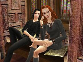 simlish snape and lily by judy-juice