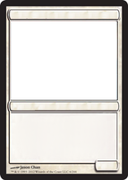 MTG Blank white card. by GrowlyDave