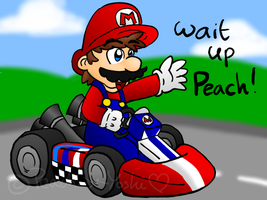 AT-Mario in his Kart by Peach-X-Yoshi