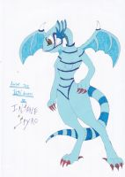 O.C. Amber The Toon Dragon (tradional) by InsaneSpyro
