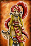 Oriental warrior by ladylucienne