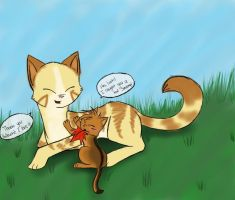 :: COM :: Hollowkit loves his momma - TcotV by TheClansOf-TheValley