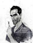 "LOST sketches ""Richard"" by J-Scott-Campbell"