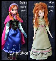 repainted ooak sleepy corneration day anna doll. by verirrtesIrrlicht
