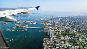 Flying over Miami by LordMajestros