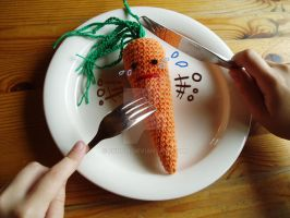 End of Carrot Amigurumi by Fuugis