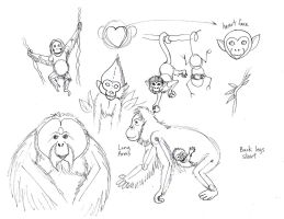 Draw Monkeys and Apes 2 by Diana-Huang
