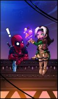 Deadpool and Rogue by Fred-H
