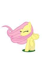 Wind Blown Fluttershy vector by BakaBrony