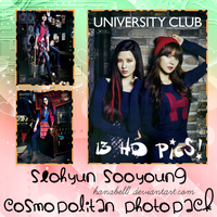 Photopack#3 Seohyun Sooyoung Cosmopolitan by HanaBell1