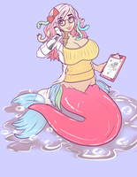 Merry Marshmallow Colored  Mermaid by HEARTZMD