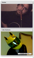 Celty on chatroulette by CornerSan