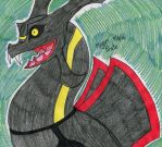 Just a Shiny Rayquaza by FlygonPirate