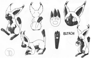 Butachi ref sheet by JaDisArt