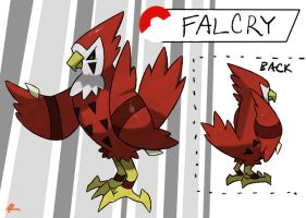 Desert Falcon Fakemon by TRspicy