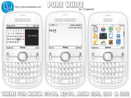 Pure White Theme for Nokia S40 320x240 by cyogesh56
