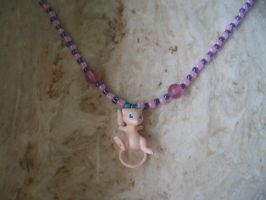 Mew Necklace by bakura-sama18