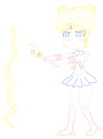 I have a wand (Sailor Moon) [lineart] by MikariStar