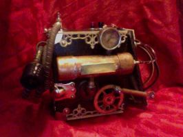 Steampunk Air Compressor 2 by EidolonChaos