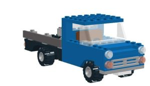 Blue Ford Transit MK1, Lego by YanamationPictures