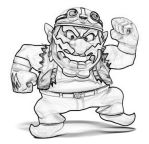 Wario Sketch by crazymak9687
