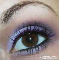 technic Gel Eyeliner purple by Talasia85