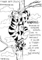 Poor Tigger B-W by disturbed-angel