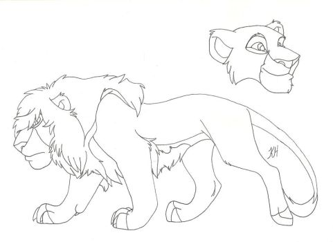 Male barbary lion character by MejX1234