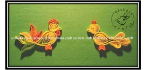 chicken quilling by Eti-chan