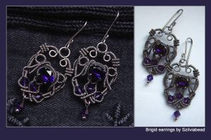 Brigid earrings by bodaszilvia