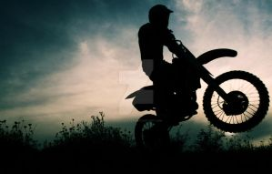 Motocross silhouette by Ghostsk8ter