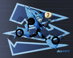 Botcon print Blurr chibi by LyricaBelachium