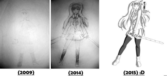 My first drawing - before and after (2009 - 2015) by CarlitoxProductions