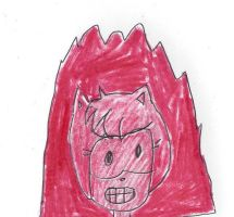 Firery raged Amy Rose by dth1971
