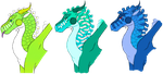 Reefwing Headbust Adopts #4 by Shallowpond