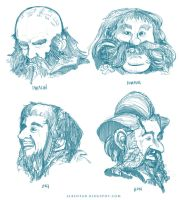 The Dwarves set 1 by alben