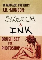 JB Munson Sketch and Ink Photoshop Brushes by jbMunson