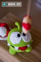 Om Nom from 'Cut The Rope', amigurumi toy by Aradiya9